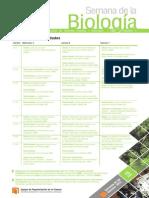 Cartel Semana de La Biologia 2015