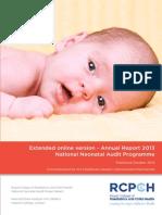 Annual Neonatal Report 2013