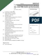 MBI5040 Preliminary Datasheet VA.00-En