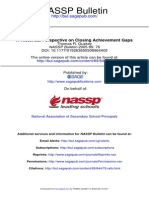Historical Perspective on Closing Achievement Gaps