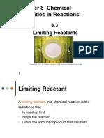 8 3 limiting reactants