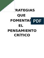 Estrategias de Pensamiento Crítico Va Cinco