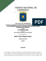 Fotogeologia proyecto El Galeno