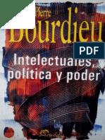 Bordieu Intelectuales Politica y Poder