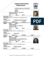 Evergreen Park Arrests July 17-24, 2015