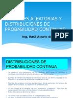 Variable Aleatoria y Distribucion de Probabilidad Continua