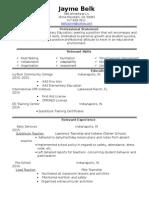 belk jayme- education resume