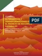 VOLUMEN III, ALTERNATIVAS Y TRANSFORMACIONES EN EL MANEJO DE RECURSOS NATURALES