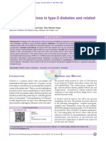 Oral Manifestations in Type-2 Diabetes and Related, 2012