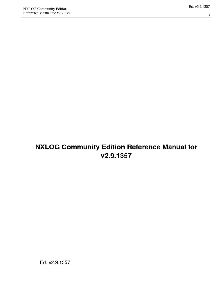 Nxlog Reference Manual | Thread (Computing) | Apache Http Server