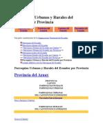 Parroquias Urbanas y Rurales Del Ecuador Por Provincia