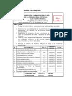 Programa General de Auditoría