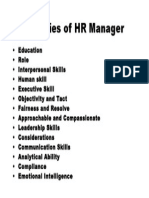 Qualities of HR Manager