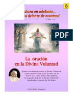 LA ORACION EN DIVINA VOLUNTAD