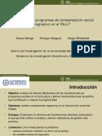¿Es el gasto en programas de compensación social  regresivo en el  Perú?