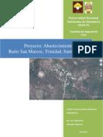 Proyecto red de distribucion de agua potable