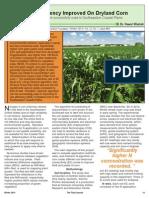 N-use Efficiency Improved in Dryland Corn