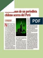 Reflexiones de un periodista chileno