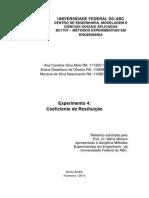 UFABC - Experimento 4 - Coeficiente de Restituição -Métodos Experimentais em Engenharia