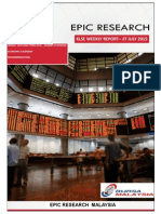 Epic Research Malaysia - Weekly KLSE Report From 27th July 2015 to 31st July 2015