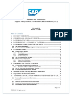Platforms and Technologies Support Policy Guide for SAP Business Objects Products (2012)