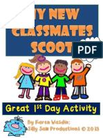 My New Classmates Scoot Great St Day Activity