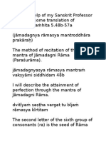 Parasurama Mantra in Pancaratra