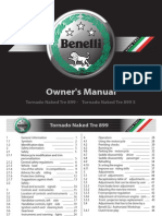 Benelli TNT 899 & 899s User Manual