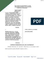 Word Music, LLC et al v. Priddis Music, Inc. et al - Document No. 59