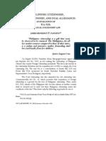 Philippine Citizenship