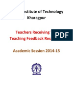 IITKGP Top Teaching Feedback 2014-15 v1