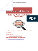 Global Hip Prostheses Industry Market Research Report 2015