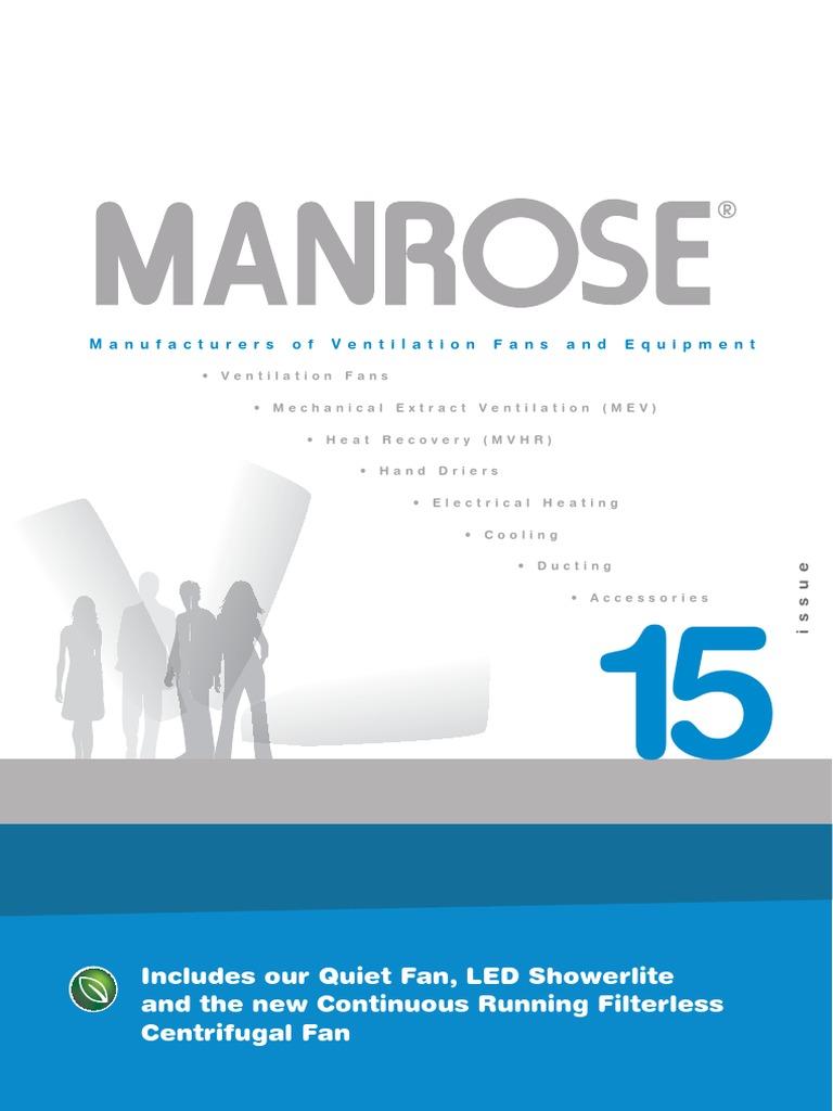 Admirable Manrose Brochure Issue 15 Mechanical Fan Duct Flow Wiring Database Wedabyuccorg