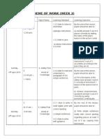 Scheme of Work Week 2 English SJK Y3