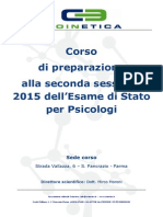 Corso EDS Coinetica Settembre 2015