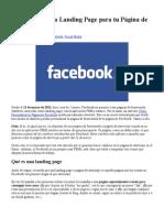 Cómo Crear Una Landing Page Para Tu Página de Facebook