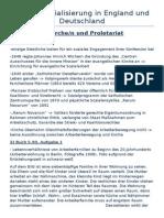 Die Industrialisierung in England Und Deutschland