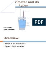 Calorimeter and Its Types