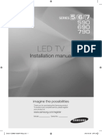 Samsung LED TVs installation manual