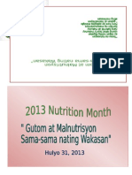 n Utristion Month Program