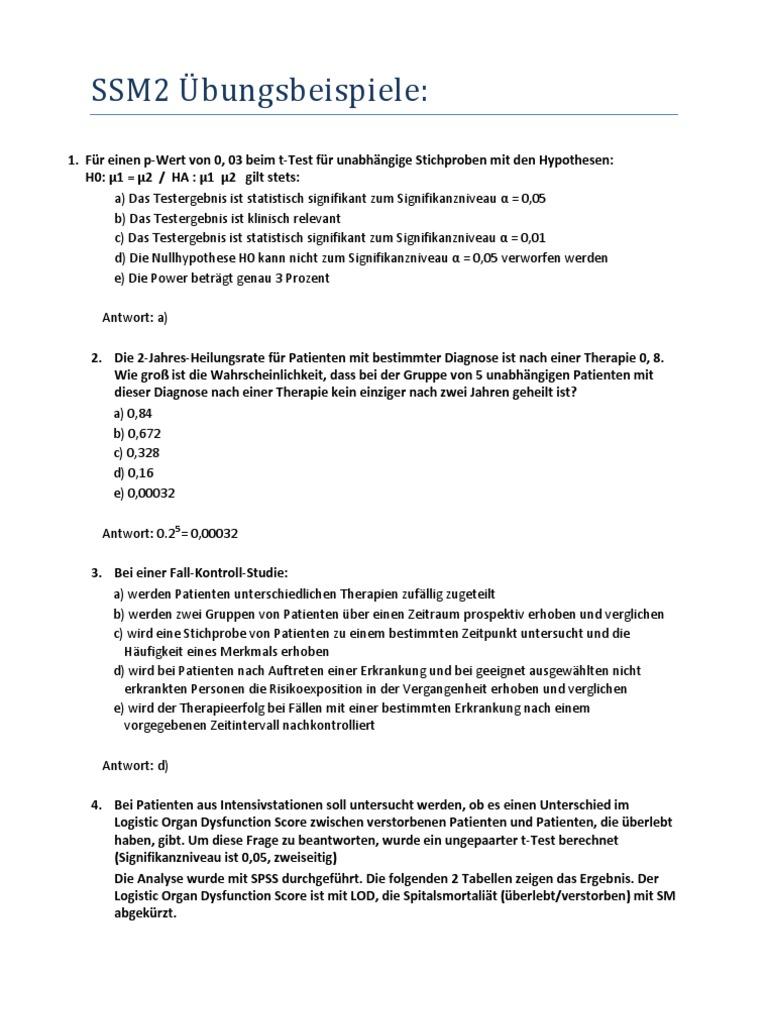 SSM2 MedUniWien Übungsbeispiele