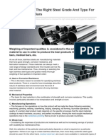 How to Choose the Right Steel Grade and Type for Stainless Steel Bars - Medical Steel Bars - Centerless Grinding