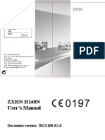 User Manual ZXHN H168N