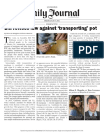 Allison Margolin and Raza Lawrence - Bill Revises Law Against Transporting Pot (Daily Journal 7-17-15)