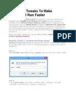 5 Registry Tweaks to Make Windows 8 Run Faster