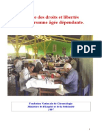 Charte Des Droits Et Libertés de La Personne Âgée Dépendante Jys