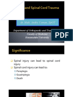 Dr. Maut(Spinal and Spinal Cord Trauma), Dr. Andry Usman
