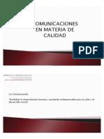 Plantilla Comunicación en Materia de Calidad Primera Parte
