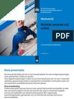 Richtlijn Neutrale Stijl Online
