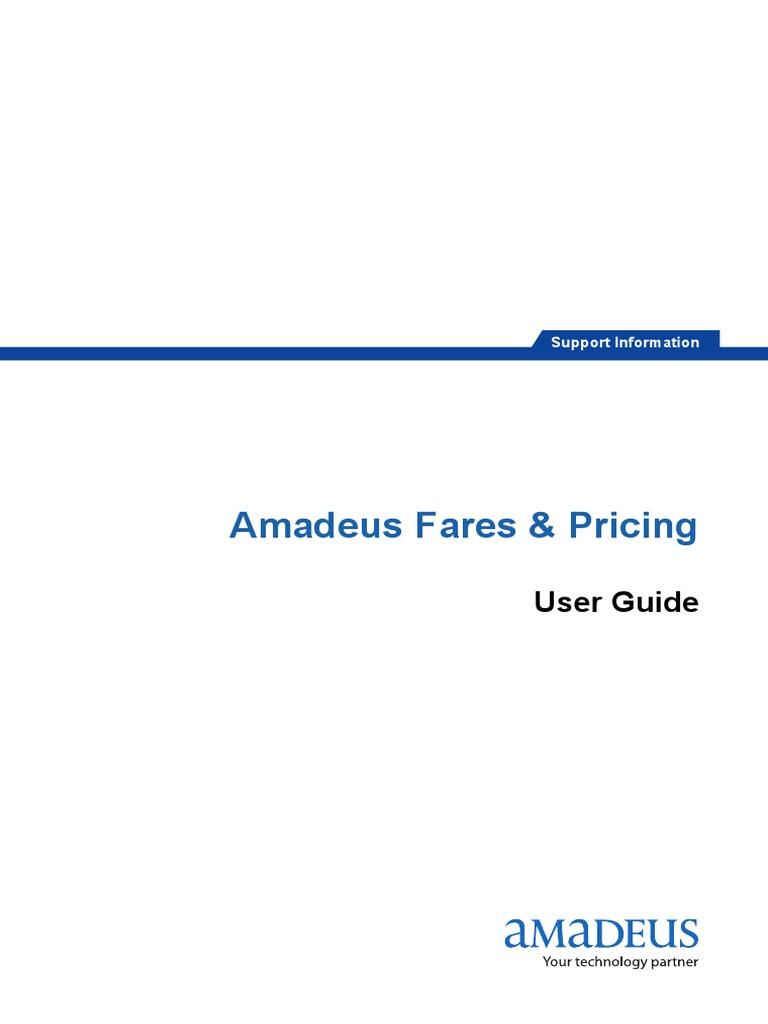 amadeus fares pricing user guide pdf ticket admission rh scribd com